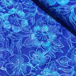 Benartex Costa Luna Blue Floral Batik by Benartex Batik - OzQuilts