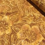 Benartex Costa Luna Gold Floral Batik by Benartex Batik - OzQuilts