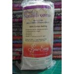 Sew Easy Fusible Cotton Batting Queen Size 213cm x 254cm by Sew Easy Pre-Cut Batts - OzQuilts