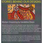 Women Dreaming 2 Black Australian Aboriginal Art Fabric by Geraldine Dixon by M & S Textiles Cut from the Bolt - OzQuilts