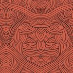 Untitled Red Australian Aboriginal Art Fabric by Nambooka by M & S Textiles Cut from the Bolt - OzQuilts