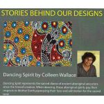 Dancing Spirit Black Australian Aboriginal Art Fabric by Colleen Wallace by M & S Textiles Cut from the Bolt - OzQuilts