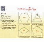 Sew Easy Pentagons Patchwork Template Set by Sew Easy Geometric Shapes