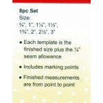 Sew Easy Diamonds Patchwork Template Set by Sew Easy Geometric Shapes - OzQuilts