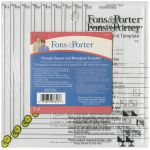 Fons & Porter Triangle Square And Hourglass Template by Fons & Porter  Triangle Rulers - OzQuilts