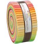 "Kona Cotton Roll Up Sunrise Palette  2.5"" Strips x 40 Pieces by Robert Kaufman Fabrics Kona Cotton - OzQuilts"
