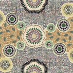Meeting Places Ecru Australian Aboriginal Art Fabric by Josie Cavanagh by M & S Textiles Cut from the Bolt - OzQuilts