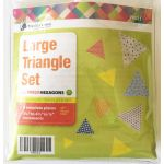 Matilda's Own Large Triangle Patchwork Template Set by Matilda's Own Geometric Shapes - OzQuilts