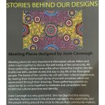 Meeting Places Black Australian Aboriginal Art Fabric by Josie Cavanagh by M & S Textiles Cut from the Bolt - OzQuilts
