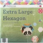Matilda's Own Extra Large Hexagons Patchwork Template Set by Matilda's Own Geometric Shapes - OzQuilts