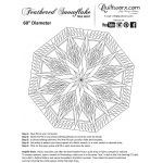 Feathered Snowflake Tree Skirt (or wall hanging) by Quiltworx Patterns & Foundation Papers - OzQuilts