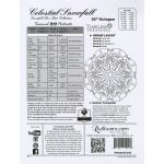 Celestial Snowfall Pattern & Foundation Papers by Quiltworx Patterns & Foundation Papers