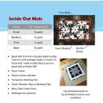 Inside Out Mats Pattern by PoorHouse Quilt Designs Table Toppers, Tuffets & Runners - OzQuilts