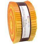 "Kona Cotton Rollups 2.5"" Strips Citrus Colourway by Robert Kaufman Fabrics Pre-Cut Fabrics"