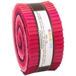 "Kona Cotton Rollups 2.5"" Strips Fragrant Fuschia Colourway by Robert Kaufman Fabrics Kona Cotton - OzQuilts"