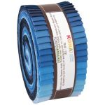 "Kona Cotton Rollups 2.5"" Strips Dusk to Dawn Colourway by Robert Kaufman Fabrics Pre-Cut Fabrics"