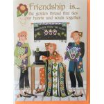 Greeting Card Friendship Is the golden thread that ties our hearts and souls together by  Greeting Cards - OzQuilts