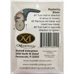 Martelli 60mm Rotary Blades (2 pack) by Martelli Blades - OzQuilts
