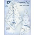 "Squedge 12"" Template Set 22.5 and 45 degree set"