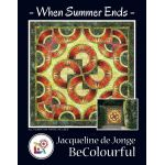 When Summer Ends Pattern & Foundation Papers by Jacqueline de Jongue by BeColourful Quilts by Jacqueline de Jongue Patterns & Foundation Papers