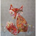 Frieda Fox Collage Pattern by Fiberworks Collage  - OzQuilts