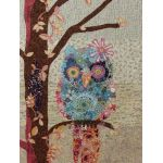 Cora the Common Owl Collage Pattern by Fiberworks Collage  - OzQuilts