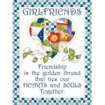 Girlfriends & Friendship Microfiber Cleaning Cloth by  Other Gifts - OzQuilts
