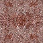 Waterhole in Brown Australian Aboriginal Art Fabric by Anna Pitjara by M & S Textiles Cut from the Bolt - OzQuilts