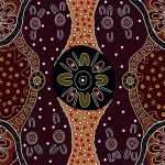 Womens Business in Charcoal Australian Aboriginal Art Fabric by E Young by M & S Textiles Cut from the Bolt - OzQuilts
