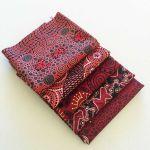 Aboriginal Art Fabric 5 Fat Quarter Bundle - Red Colourway by M & S Textiles Australian Aboriginal Art Fabrics