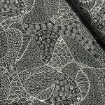 "Aboriginal Art Fabric 20 pieces 5"" Square Charm Pack - Black Colourway by M & S Textiles Australian Aboriginal Art Fabrics"