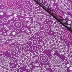 "Aboriginal Art Fabric 10 Pieces 2.5"" Strips Jelly Roll pack - Light Purple Colourway by M & S Textiles 2.5"" Strips - OzQuilts"