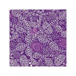 "Aboriginal Art Fabric 10 pieces 10"" Squares Layer Cake Pack - Purple Colourway by M & S Textiles 10"" Squares - OzQuilts"