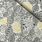 "Aboriginal Art Fabric 20 pieces 5"" Square Charm Pack - Black & White Colourway by M & S Textiles"