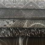 Aboriginal Art Fabric 5 Fat Quarter Bundle - Black Colourway by M & S Textiles Australian Aboriginal Art Fabrics