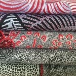 "Aboriginal Art Fabric 10 pieces 10"" Squares Layer Cake Pack - Black & Red Colourway by M & S Textiles"