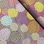 """Aboriginal Art Fabric 20 pieces 5"""" Square Charm Pack - Purple Pink Colourway by M & S Textiles 5"""" Squares - OzQuilts"""