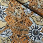 "Aboriginal Art Fabric 20 pieces 5"" Square Charm Pack - Brown & Gold Colourway by M & S Textiles"