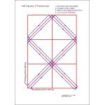 "Half Square Triangle Paper, 2"" Finished Size by OzQuilts Pre-printed Triangle Papers - OzQuilts"