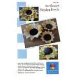 Sunflower Nesting Bowls Pattern by PoorHouse Quilt Designs Table Toppers & Runners - OzQuilts
