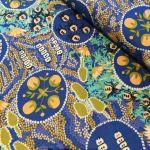 Witchety Grub Blue by Australian Aboriginal artist Audrey Martin Napanangka