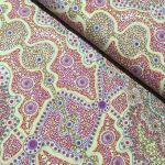 "Aboriginal Art Fabric 10 Pieces 2.5"" Strips Jelly Roll pack - Purple & Pink Colourway by M & S Textiles 2.5"" Strips - OzQuilts"