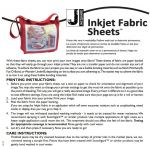 "Jacquard Printable Inkjet Fabric Sheets Size 8.5"" x 11"" - 30 sheets per pack by Jacquard Inkjet Fabric Sheets - OzQuilts"