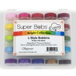 Super Bobs MasterPiece Cotton Prewound Bobbin Set - 25 Bright Colours by Superior Masterpiece Thread Masterpiece Cotton Thread - OzQuilts