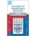 Schmetz Chrome Embroidery Needle Size 90/14 by Schmetz Sewing Machines Needles - OzQuilts