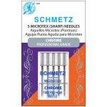 Schmetz Chrome Microtex Needle Size 80/12 by Schmetz Sewing Machines Needles - OzQuilts
