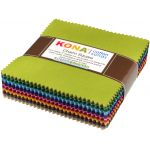 "Kona Cotton Solids 5"" Charm Squares - Dusty Colourstory 101 squares by Robert Kaufman Fabrics"