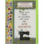 Greeting Card - Happy Birthday Sewing Machine by  Greeting Cards - OzQuilts
