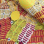 Bush Melon Black by Betty Mbitjana by M & S Textiles Cut from the Bolt - OzQuilts