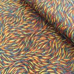 Bush Yam Green Australian Aboriginal Art Fabric by Jeannie Pitjara by M & S Textiles Cut from the Bolt - OzQuilts